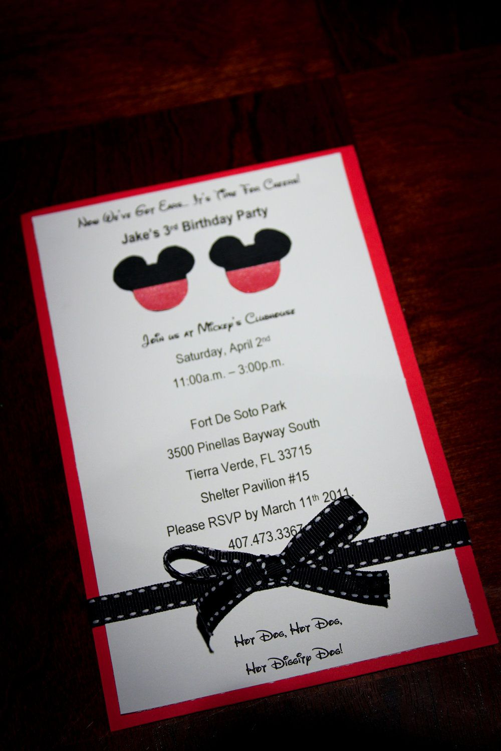 Disney Mouse - Mickey or Minnie - Homemade Birthday Invitations ...