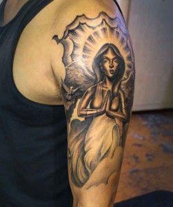 biceps religieux -   24 religious tattoo sleeve ideas