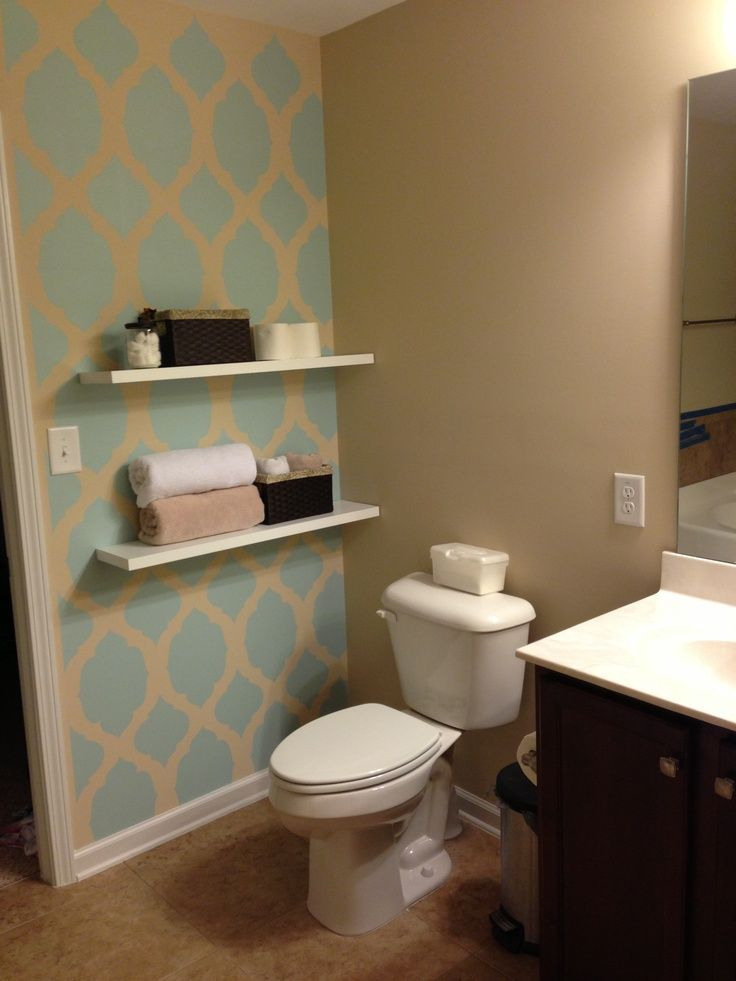 Bathroom Accent Wall bathroom-accent-wall-ideas-modern-with-image-of-bathroom-accent