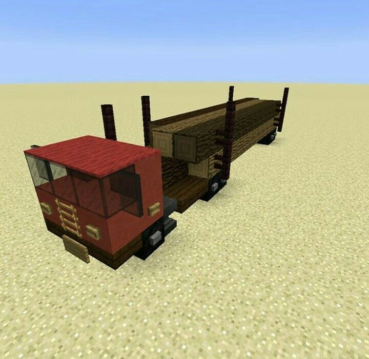 Minecraft Modern Design Build From Minecr4ft Biome: Minecraft_biome Logging Truck Build