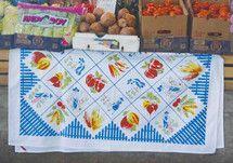 Farmer's Market Vintage Inspired Tablecloth