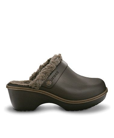 4f6d4670eb8a Take a look at this Espresso   Walnut EVA Lined Clog - Women by Crocs on   zulily today!