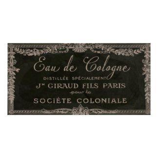 Vintage Paris Perfume Cologne Label