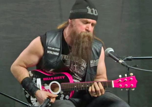 Zakk Wylde Plays Black Sabbath on Hello Kitty Mini-Guitar