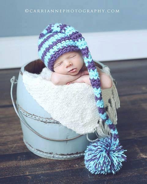 PDF Crochet PATTERN Stocking Stripes Hat Instant Download | Häkeln ...