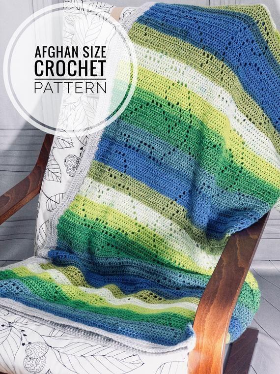 Dinosaur Blanket   Crochet Pattern   Afghan   Throw Blanket
