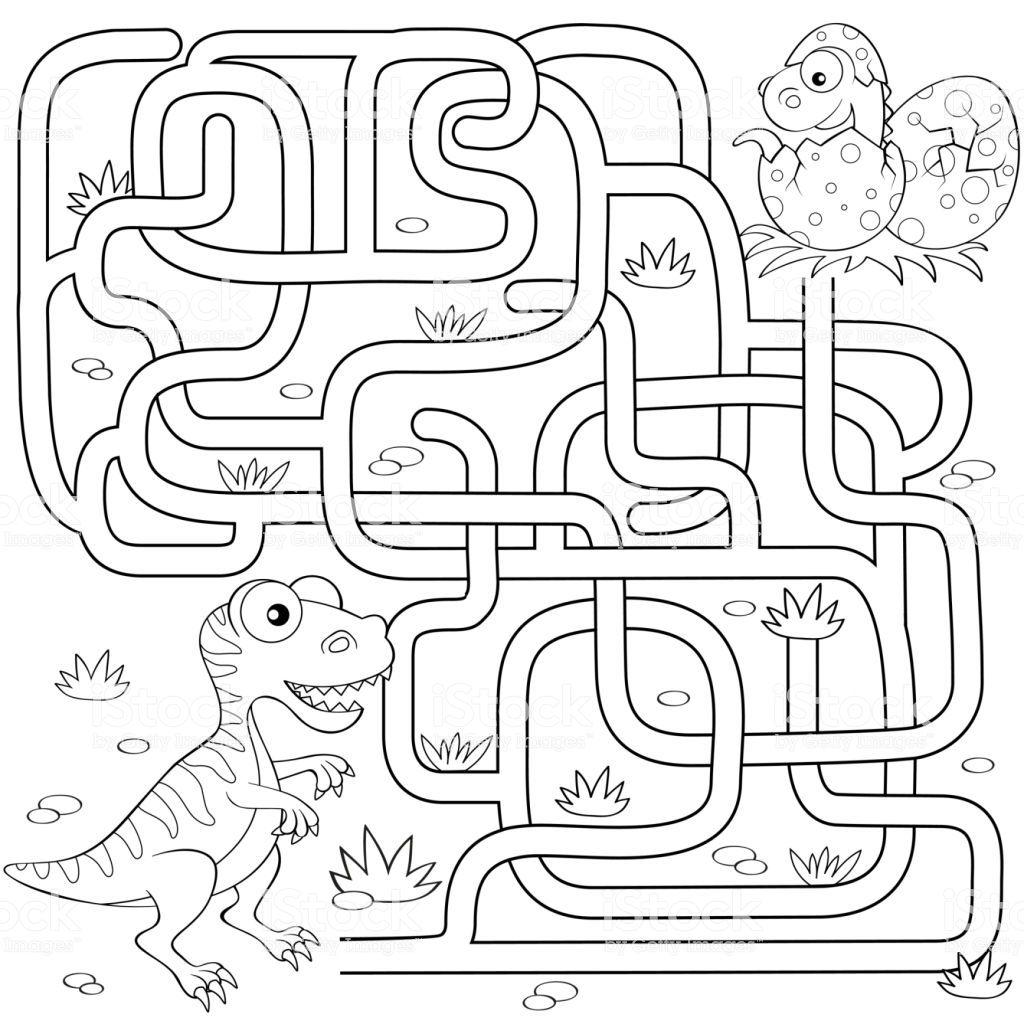 Google Afbeeldingen Resultaat Voor Https Media Istockphoto Com Vectors Help Dinosaur Find Path To Nest Labyrinth Maze Game For K Doolhof Afbeeldingen Werkjes