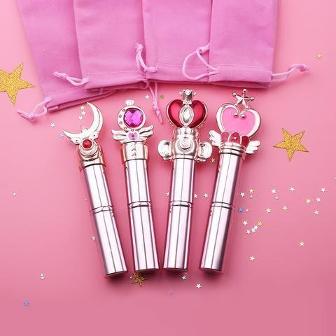 Sailor Moon Rod Powder Brushes Makeup Tools - Bijou Blossoms