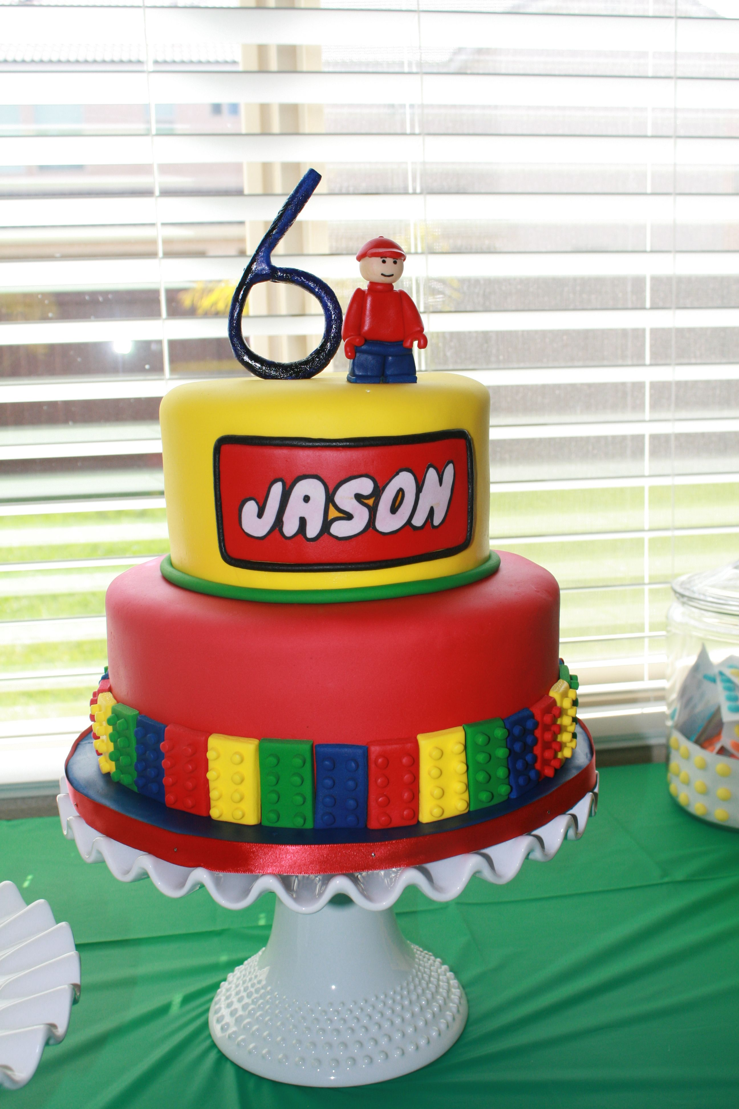 Tremendous Very Cool Lego Cake For A Little Boys Bday Party Lego Birthday Personalised Birthday Cards Cominlily Jamesorg