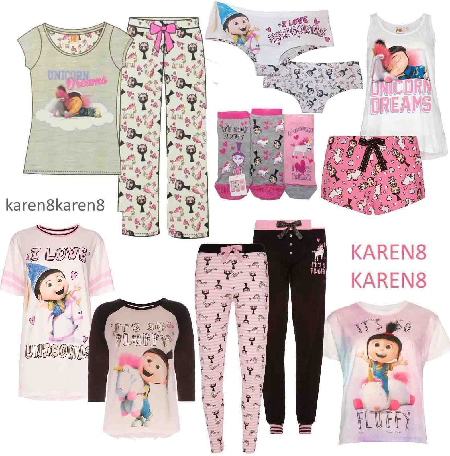 323fd510c Agnes Despicable Me Unicorn Dreams It's So Fluffy & I Love Unicorns Pyjamas  Knickers Socks