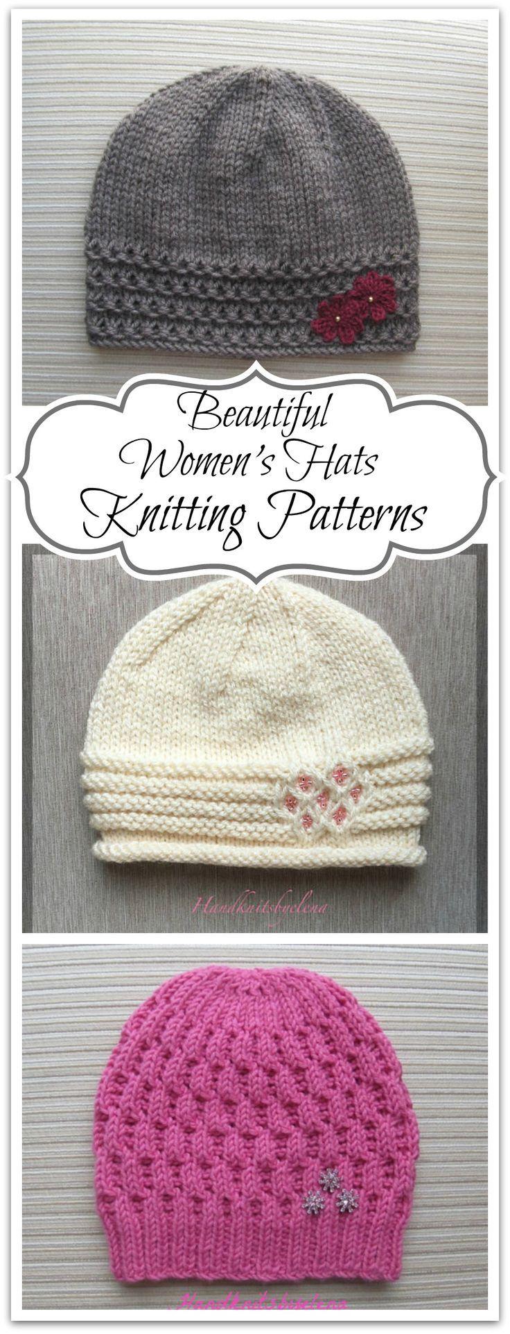 Hermosos sombreros de mujer tejer patrones. Hermoso patrón de tejer y crochet ...