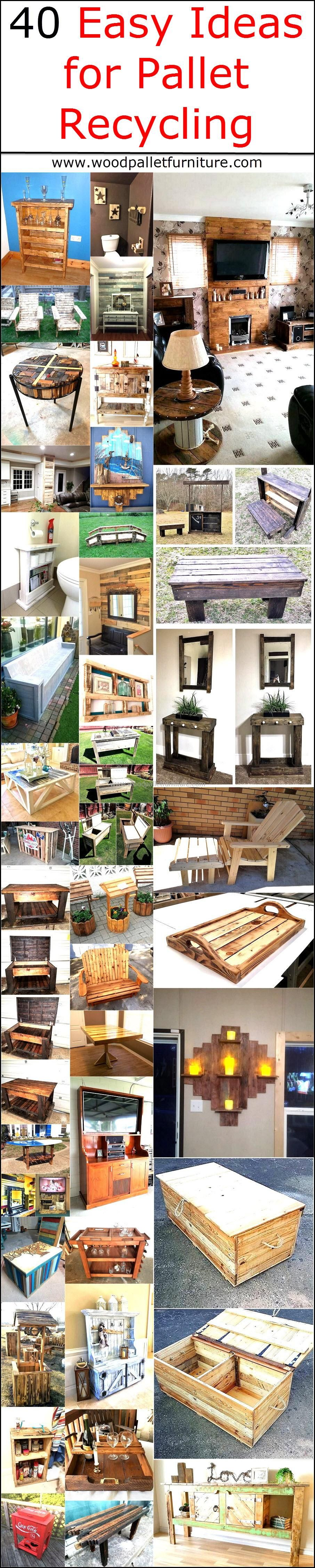 Easy Ideas for Pallet Recycling Pallets Easy and Pallet furniture