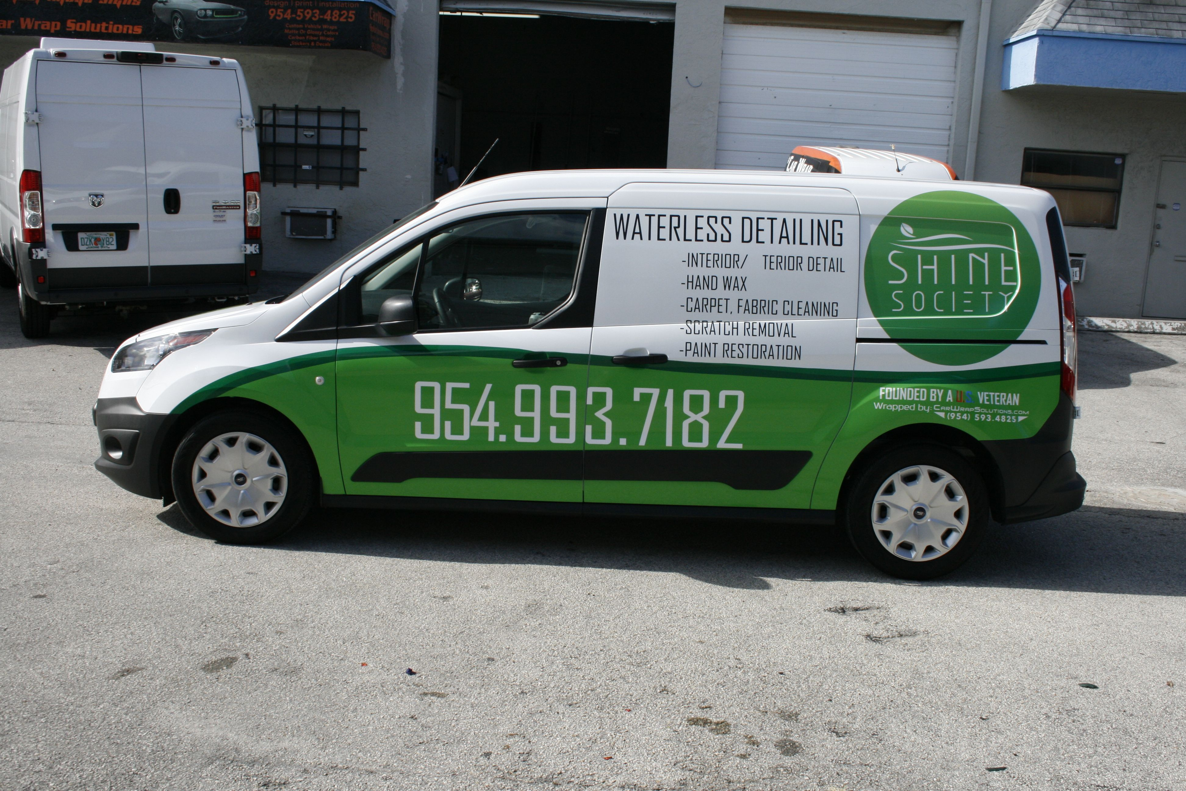 New Ford Transit Connect Detailing Vinyl Wrap Fort Lauderdale