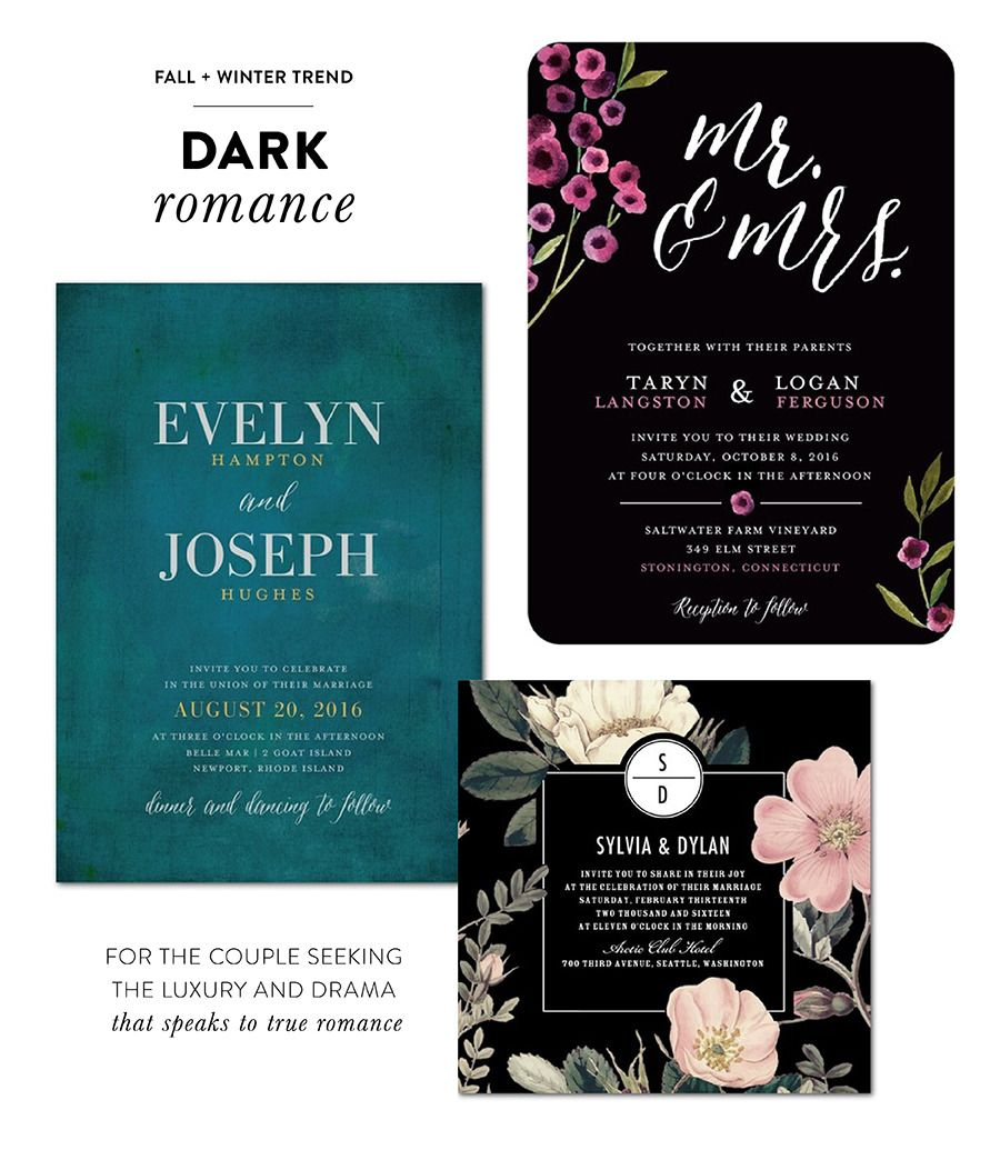 Fall Color Wedding Invitations: Fall + Winter Trends By Wedding Paper Divas