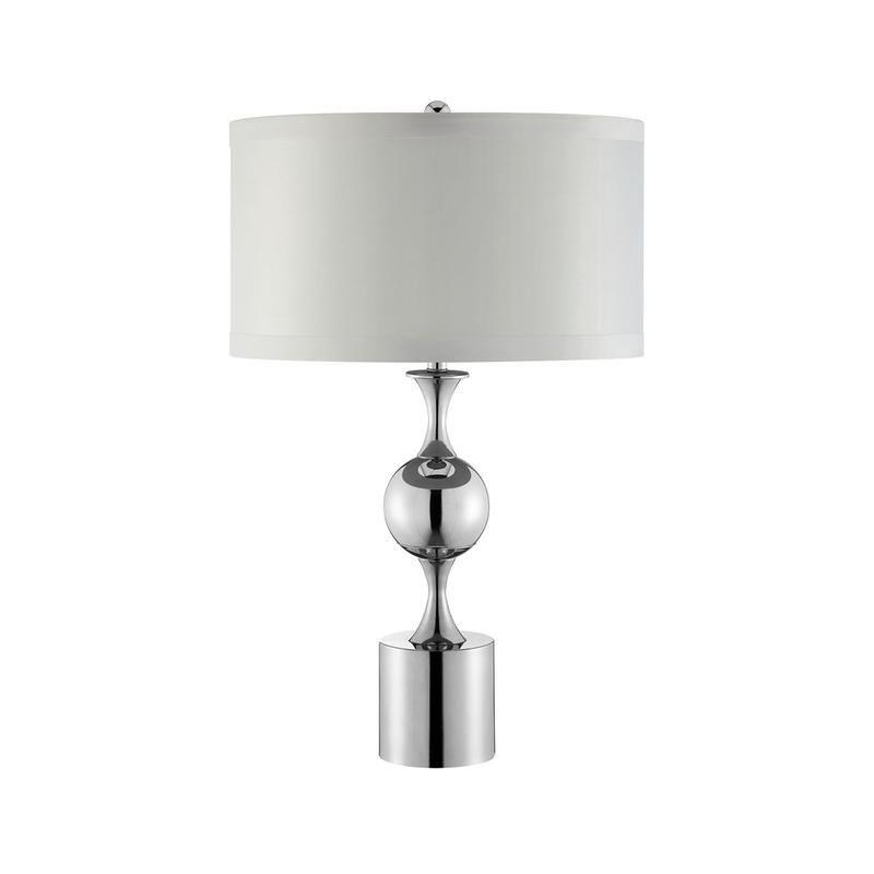 Carson Converse Gloss White Table Lamp w Aberdeen Shade