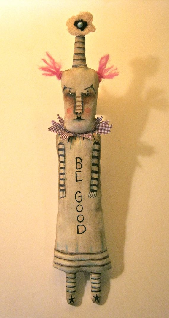 clown art doll, be good , circus art, carnival art, whimsical, wall ...