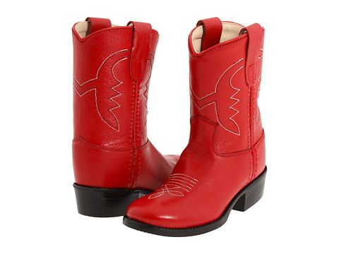 125d38e7d8a Old West Kids Boots Western Boot (Toddler) Cowboy Boots Red | Dalis ...