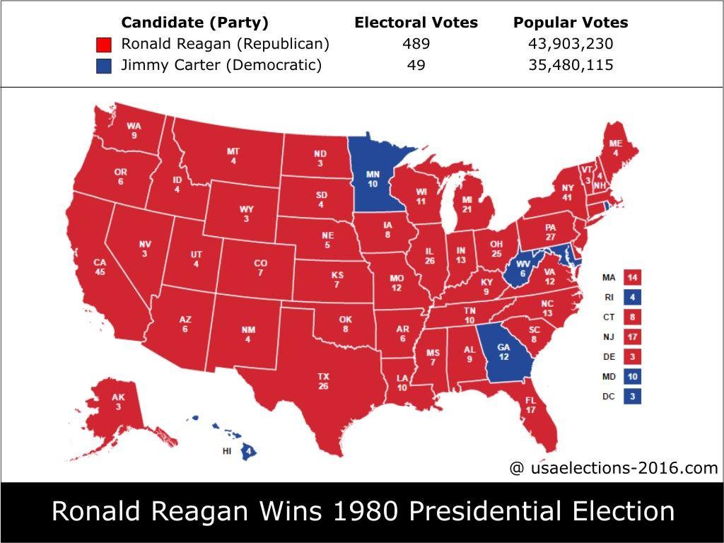 1980 Presidential Election Result: Ronald Reagan ...
