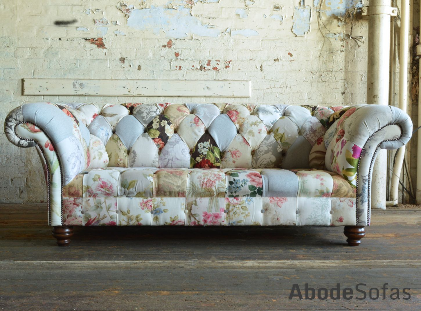 Brighton Patchwork Chesterfield Sofa In 2019 Floral
