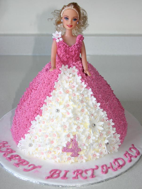 How To Make A Butter Cream Barbie Doll Cake Barbie Dress Cake Barbie Doll Birthday Cake Doll Birthday Cake