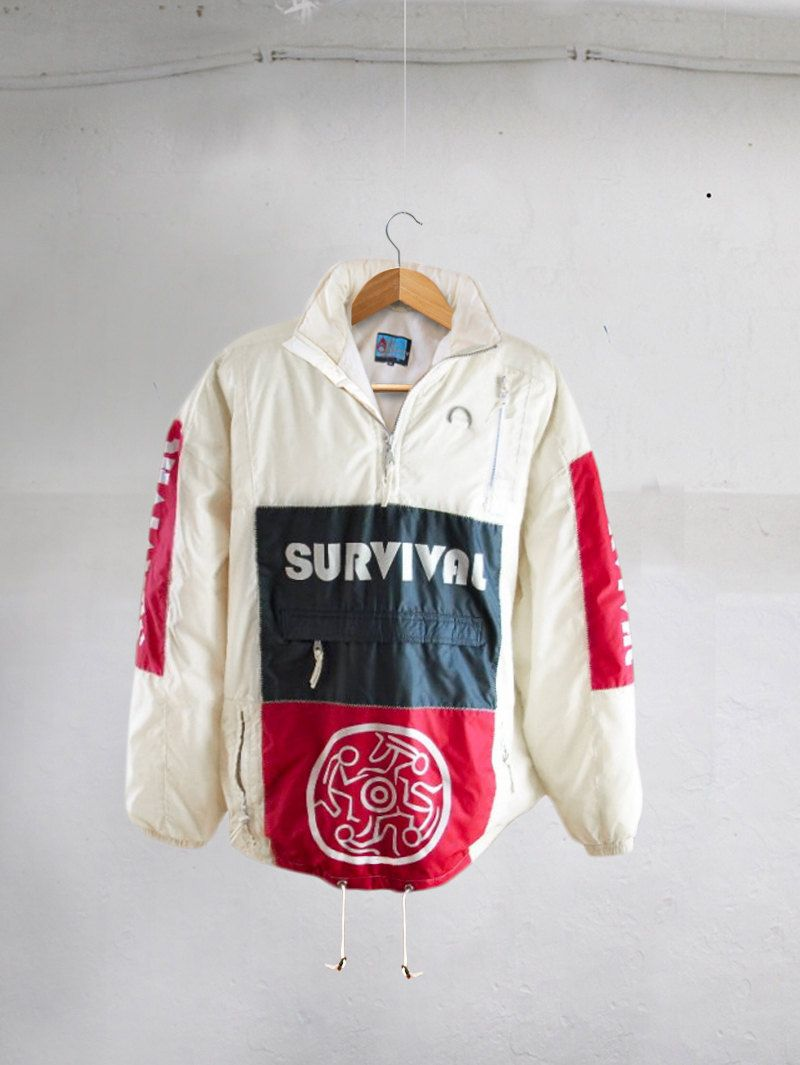 9954124ce33e Vintage 90s Explosive Sportswear Pull Over waterproof Color Block Spell Out  membrane jacket Size XXL by VapeoVintage on Etsy