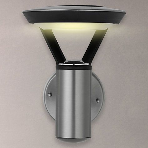 Buy john lewis outdoor solar led easy to fit stainless steel wall buy john lewis outdoor solar led easy to fit stainless steel wall light clearblack online at johnlewis outdoor solar lighting pinterest aloadofball Image collections