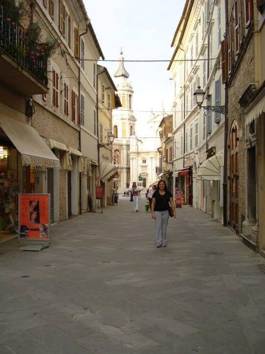 Street scene in Marche Italy