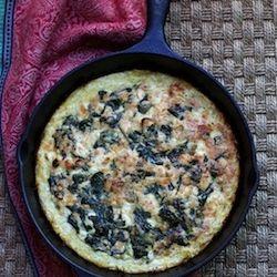 Spinach and Feta Squash Quiche