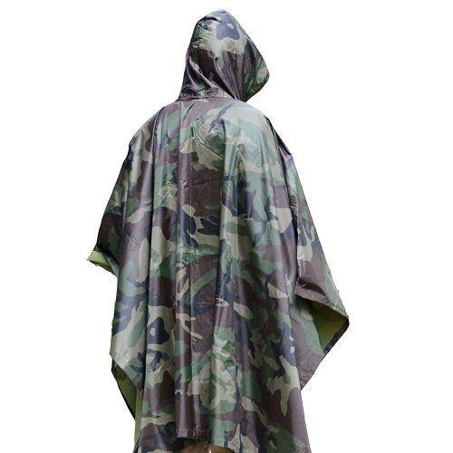 Military Style Rain Poncho Unisex For Adult Ultralight Portable Lightweight Outdoor Raincoat Ripstop Hooded Waterproof Rai Raincoat Rain Poncho Military Poncho