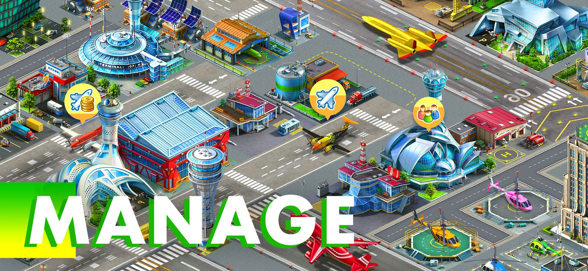 Airport City: Airline Tycoon #Games#Insight#Strategy