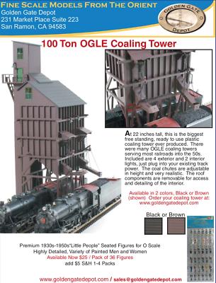Golden Gate Depot O Scale 100 Ton Ogle Coaling Tower Golden Gate