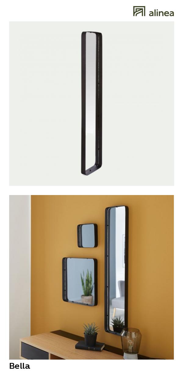 Attrayant Alinea : Bella Miroir Rectangulaire En Métal 20x100 Cm Déco Décoration  Murale Miroirs   #Alinea