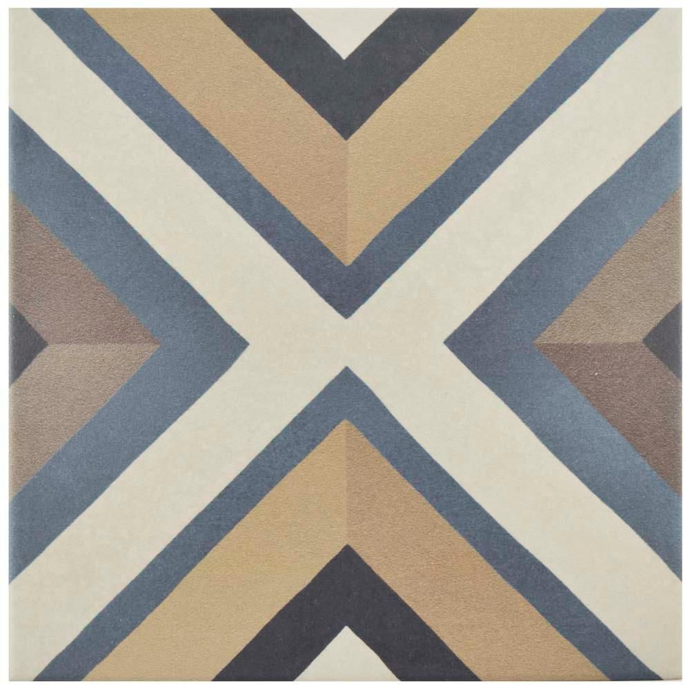 Merola Tile Caprice Colors Square 7-7/8 in. x 7-7/8 in. Porcelain Floor and Wall Tile (11.46 sq. ft. / case), Multi/Medium Sheen