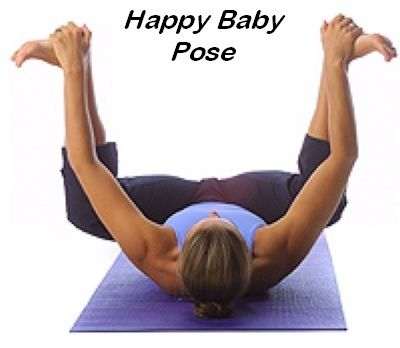 Ananda Balasana Happy Baby Benefits Calms The Brain Decreases The Heart Rate Helps Relieve Stress Fatigue Yoga