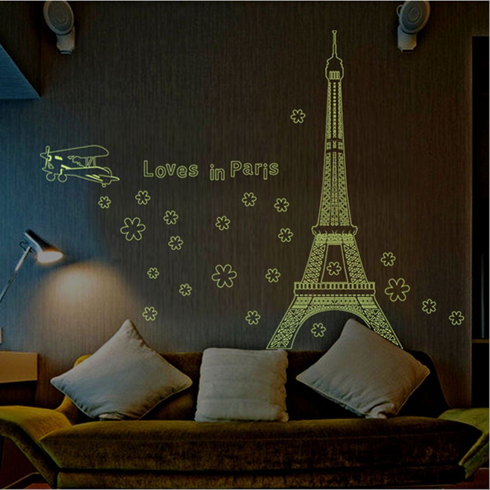 Night fluorescent paris eiffel tower wall sticker mural vinyl night fluorescent paris eiffel tower wall sticker mural vinyl decal home decor unbrandedgeneric frenchcountry amipublicfo Images