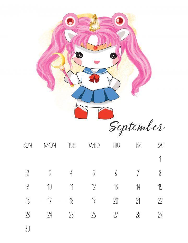 Calendar Ideas Y : Calendario de unicornios para imprimir gratis