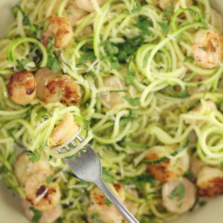 Healthy One Pot Meals 6 Easy Diabetic Dinner Recipes: One Pot Spiralized Zucchini Shrimp Scampi