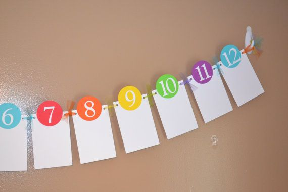 Rainbow Newborn to 12 Month Photo Banner by SimplyBlessedHome