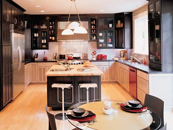 someday i want a kitchen that has darker upper cabinets and lighter lower cabinets kitchen on kitchen cabinets upper id=54901