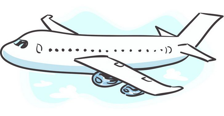 Cute Airplane Graduated And Looking October 2011 Clip Art