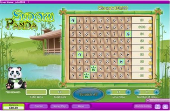 Sudoku Panda Scratch Cards Review | Excellent Online Slots and Casinos South Africa