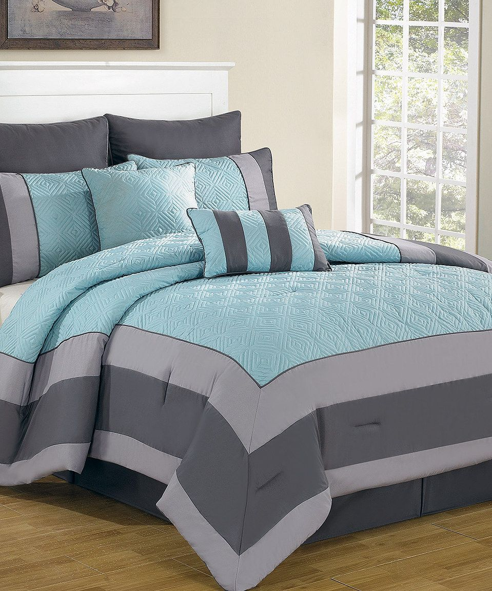 Bedding jardin collection bedding collections bed amp bath macy s - Master Bedroom Another Great Find On Zulily Blue Smoke Spain Comforter Set By Duck River
