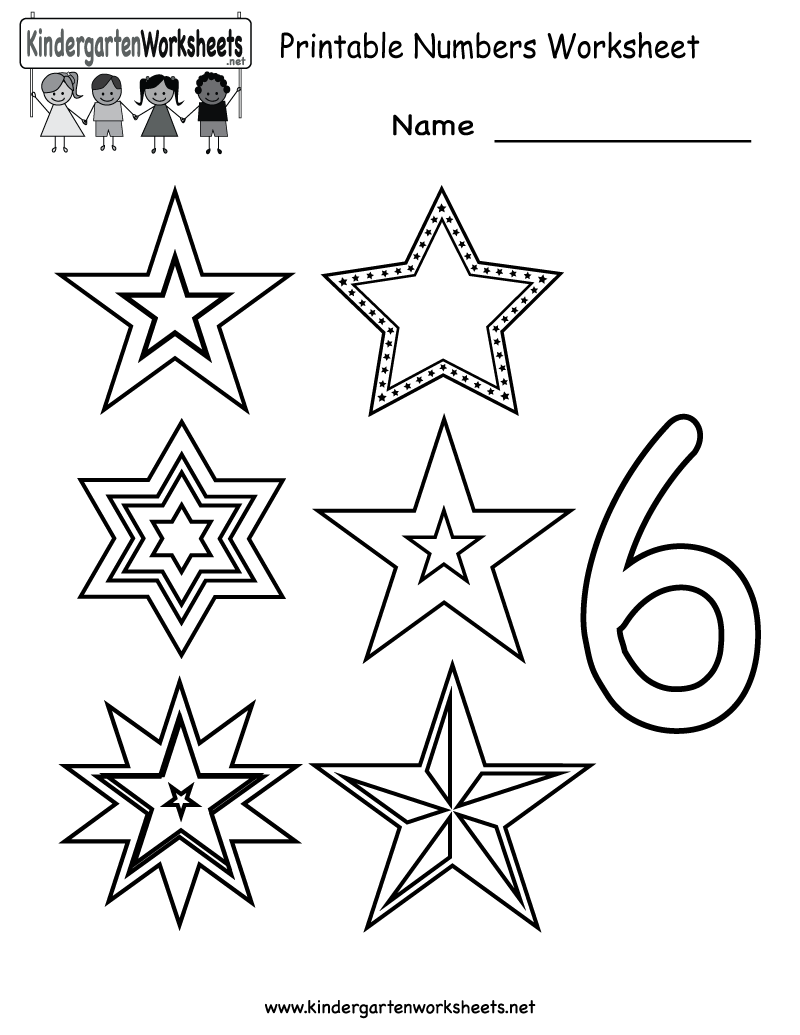 Kindergarten Printable Numbers Worksheet – Printable Number Worksheets for Kindergarten