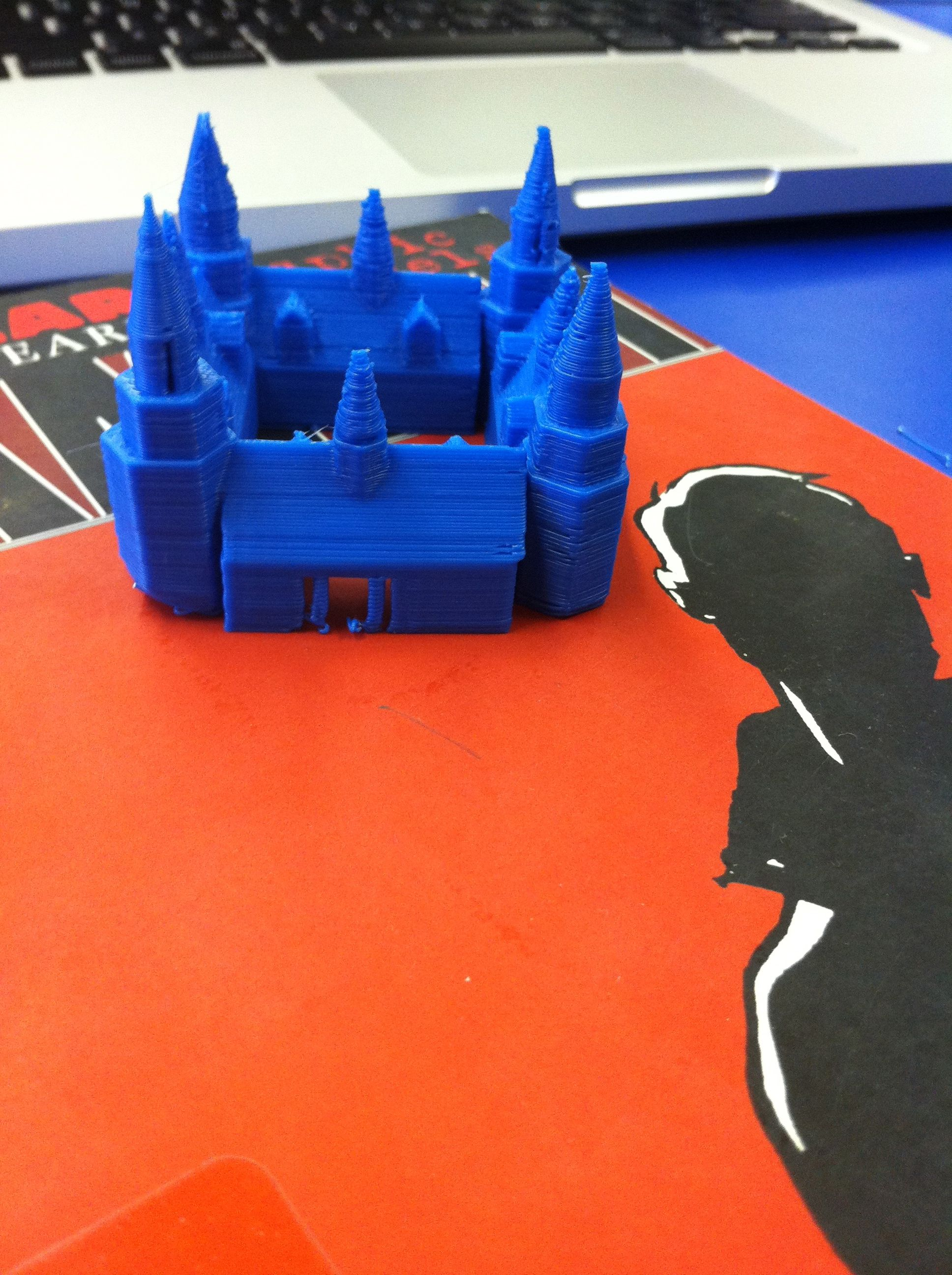Hamlet's Castle designed on Tinkercad and printed on the