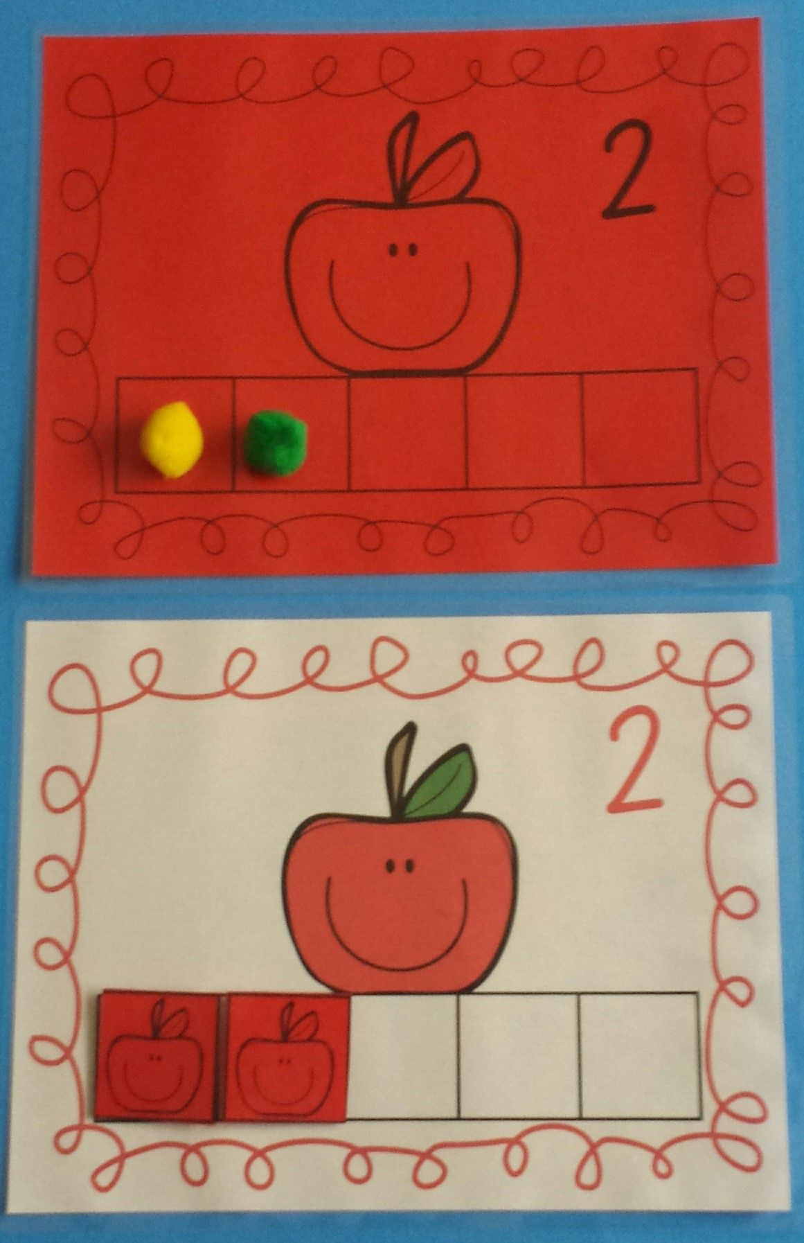 Apples Five Frame Counting Fun