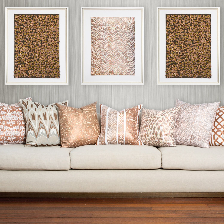 Metallic Home Decor Bandhini Home Paths Copper Throw Pillow Zinc Door P I L L O W