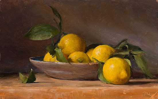 Still Life With Lemons A Still Life Painting By British Artist