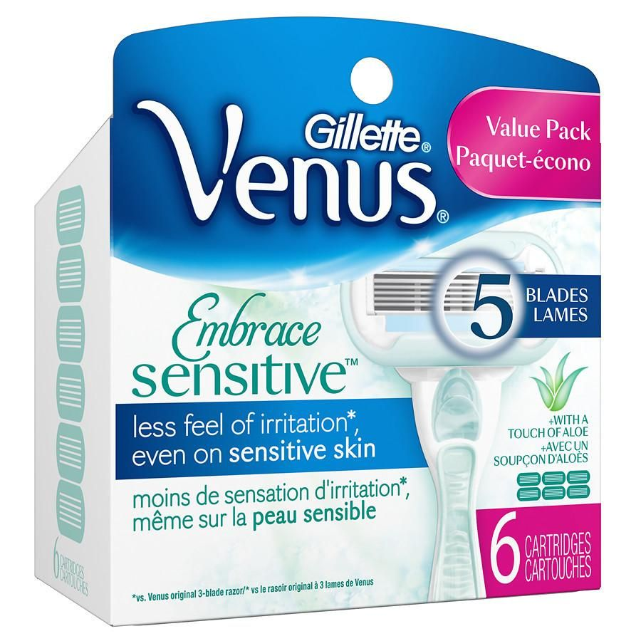 Gillette Venus Extra Smooth Sensitive Women's Razor Refill