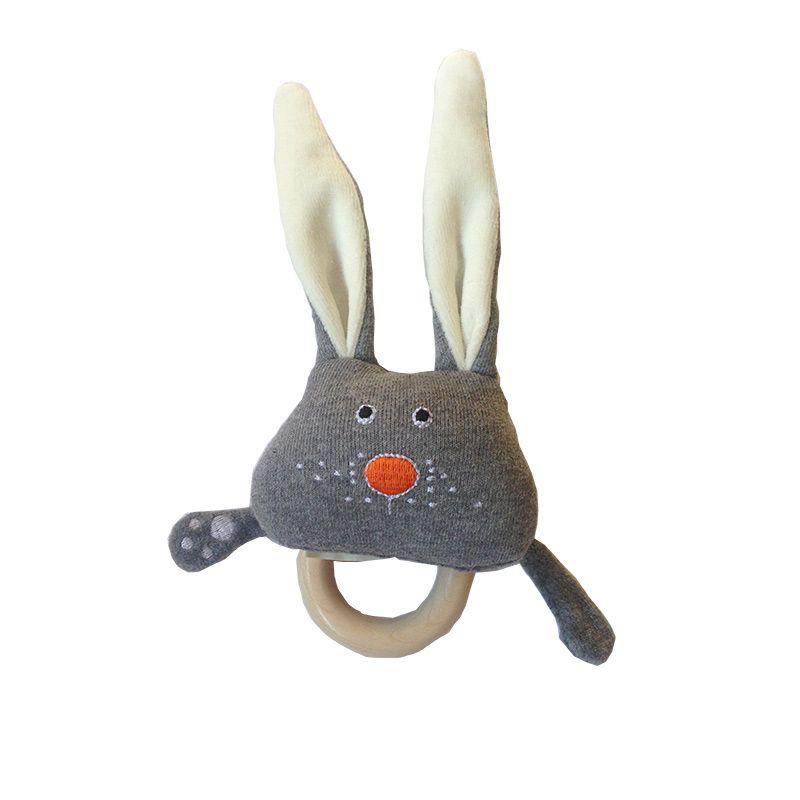 Sonaglio con anello dentizione: coniglietto