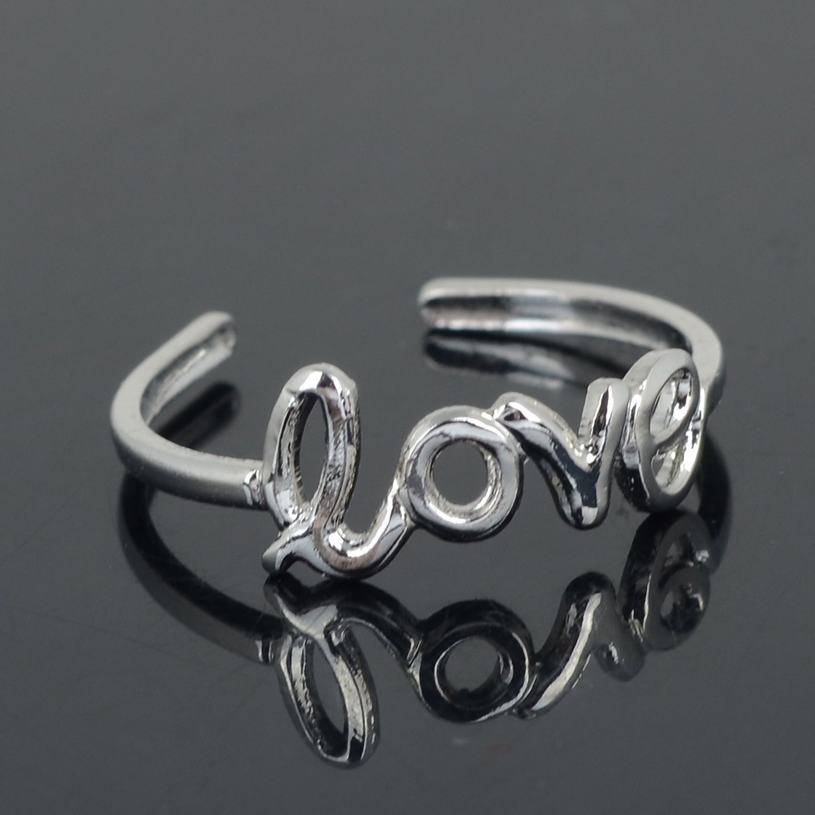 Simple Love Open Toe Adjustable Ring